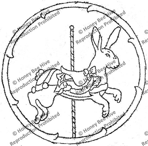 CS578-B: Carousel Rabbit, Offered by Honey Bee Hive