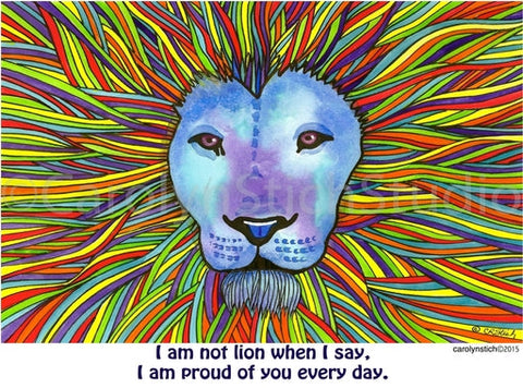 I am not Lion, rug hooking pattern