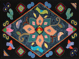Multicolores Pattern #2, rug hooked by Judy Peluso