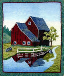 P507: Vermont Barn, Hooked by Karen Maddox