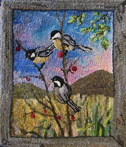 P589: Chickadees, Hooked by Gail Becker