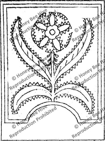 P603: Fraktur Flower, Offered by Honey Bee Hive