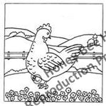 P606: Folkart Chicken, Offered by Honey Bee Hive