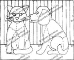 P615: Ginghan Dog & Calico Cat, Offered by Honey Bee Hive