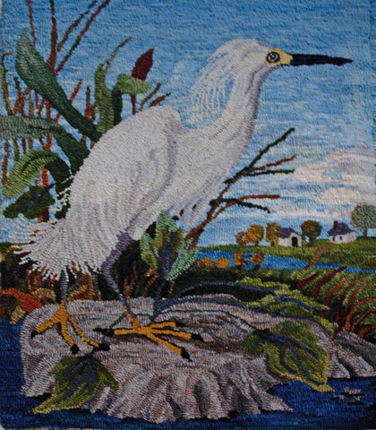 P619: Snowy Egret, Hooked by Suzanne Sandvik