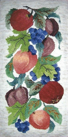 P621: Fruit Panel, Hooked by Joan Reckwerdt