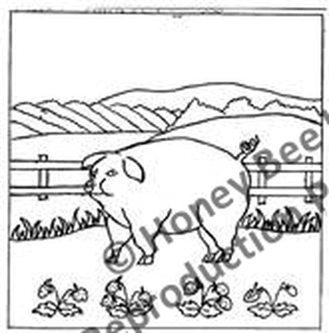 P629: Folkart Pig, Offered by Honey Bee Hive