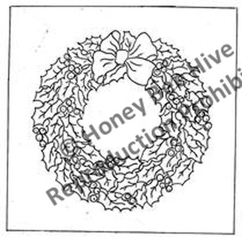 P634: Holly Wreath, Offered by Honey Bee Hive