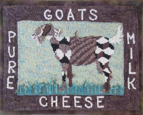 Country Goat, rug hooked by Pat Sims