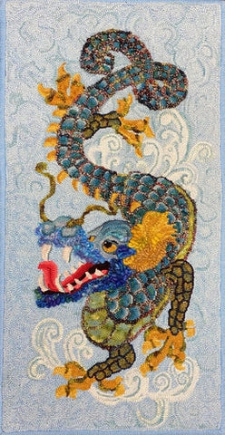 Li-Dragon, rug hooked by Linda Powell