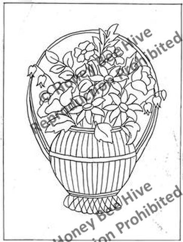 P650-A: Flower Basket, Offered by Honey Bee Hive