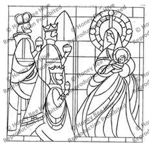 P651: Stained Glass Nativity, Offered by Honey Bee Hive