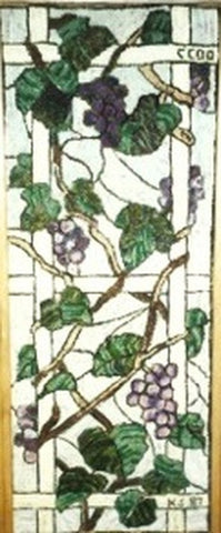 P656: Stanton Grape Panel, Hooked by Unknown