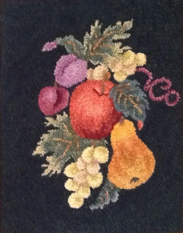Fruit, rug hooked by Vivily Powers