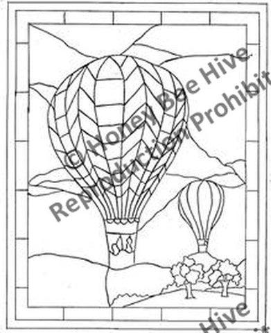 P682: Stained Glass Balloon, Offered by Honey Bee Hive
