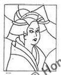P710: Stained Glass Geisha, Offered by Honey Bee Hive