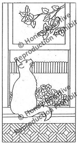 P777: The Enchanted - Cat & Bird, Offered by Honey Bee Hive