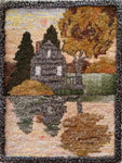 Daybreak, rug hooked by Nancy Gigrich