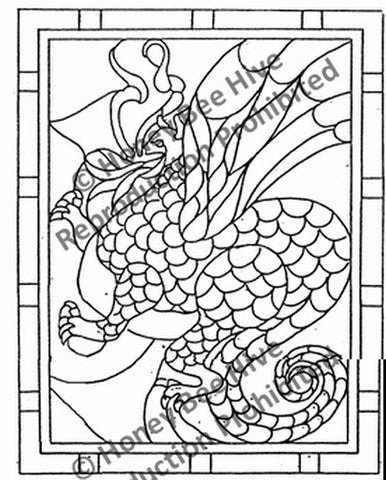 P816: Stained Glass Dragon, Offered by Honey Bee Hive