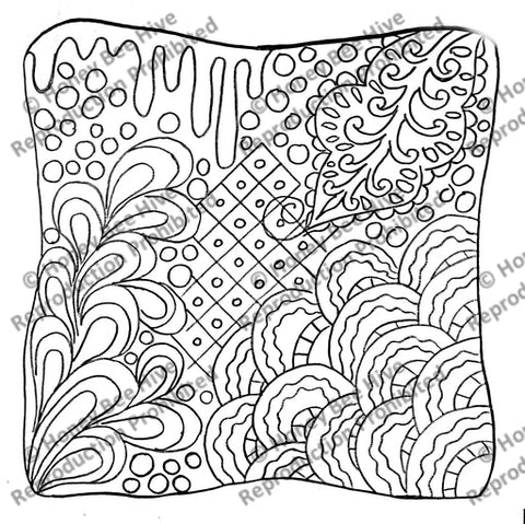 P891: Zen Doodle, Offered by Honey Bee Hive
