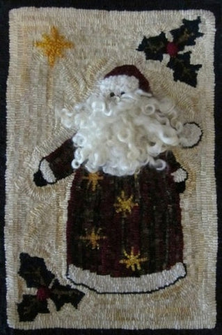 Ho,Ho,Ho, rug hooked by Diane DuBray