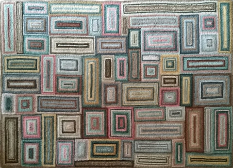 Large Geometric, rug hooked by Eileen Maroney