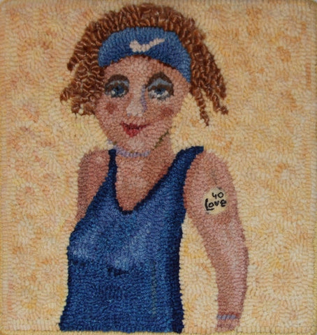 What's She Selling?, rug hooking pattern
