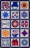 PR1438: Quilt Sampler For Wide Cut, Hooked by Biffie Norris Gallant