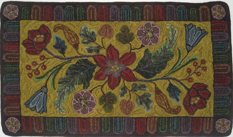 Antique Floral, rug hooked by John Leonard