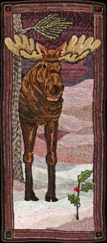 Mighty Moose, rug hooked by Fritz Mitnick