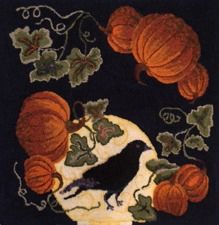 PR1502: Pumpkin Harvest, Hooked by Judy Shields (adapt.)
