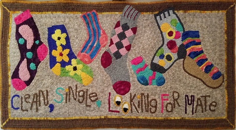 No Two Alike, rug hooked by Barbara Hughes