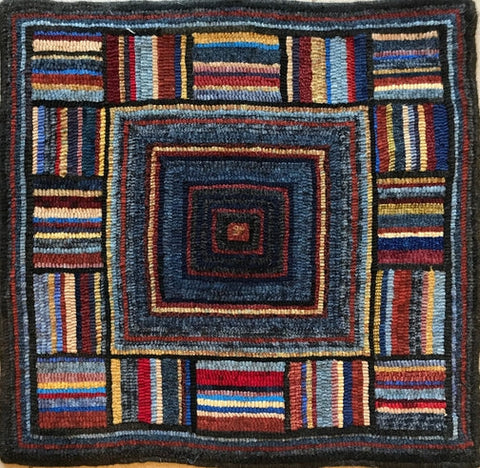Antique 1940, rug hooked by Fritz Mitnick