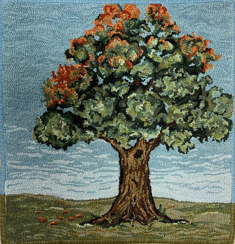 Tree III, rug hooked by Linda Powell
