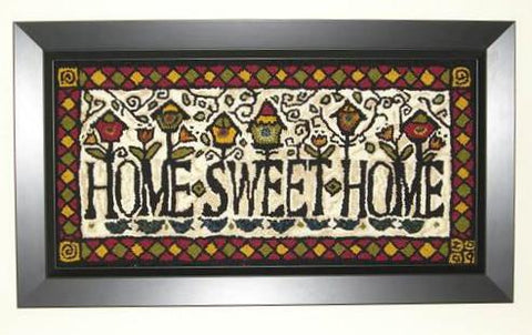 PR1595-L: Home Sweet Home, Hooked by Louise Tessier