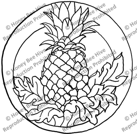 Pineapple, rug hooking pattern