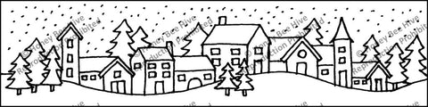 PR1828: Snowy Village, Offered by Honey Bee Hive