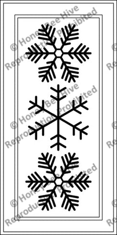 PR1839: Three Snow Flakes, Offered by Honey Bee Hive