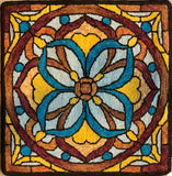 Stained Glass Mosaic, rug hooked by Kathryn Kovaric