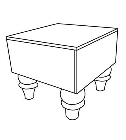 FS-SQ02: Square Footstool (Medium)