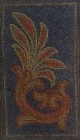Rowe Antique Scroll, rug hooked by Sherry Chandler