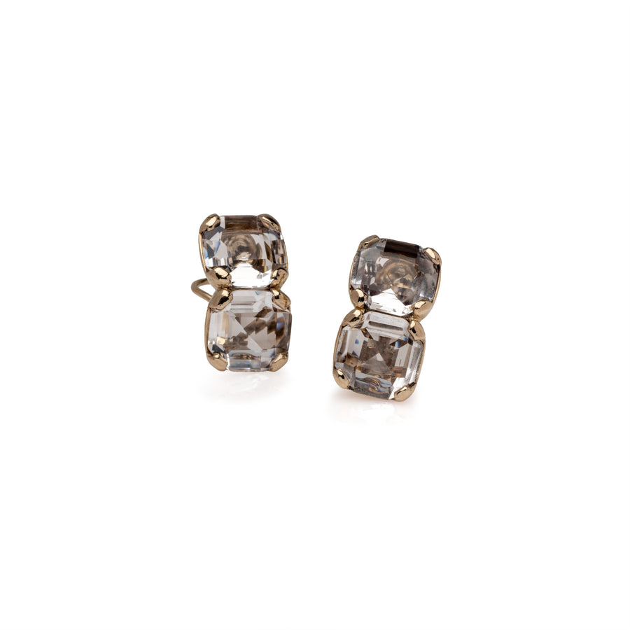 Large Double stone Earrings
