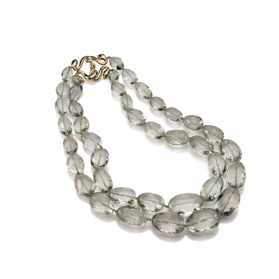 Green Amethyst bead Necklace