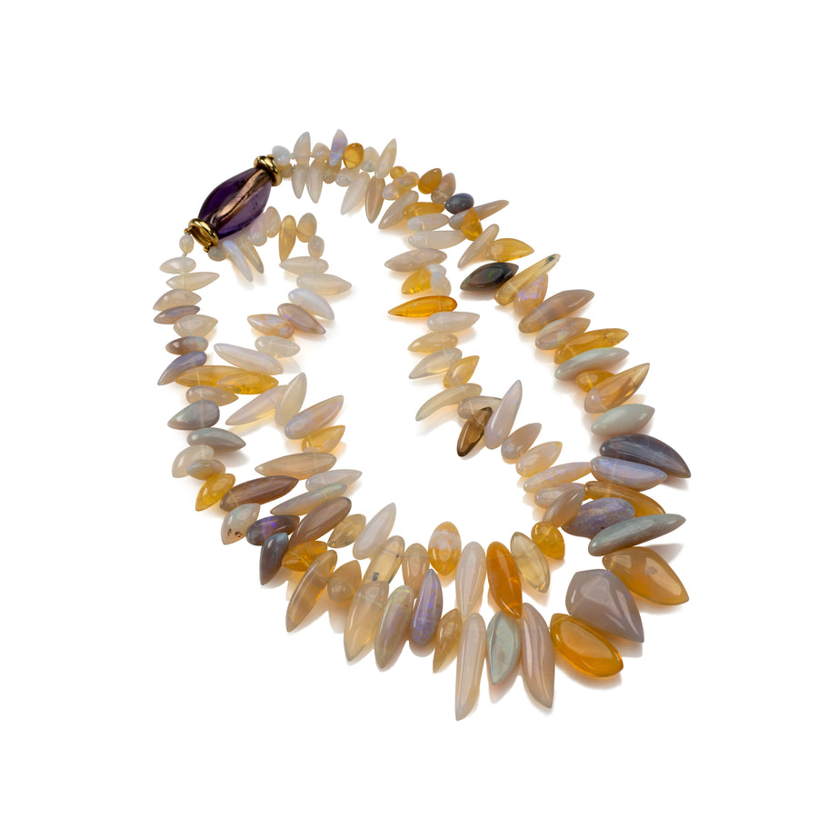 Honey Opal Spike Necklace