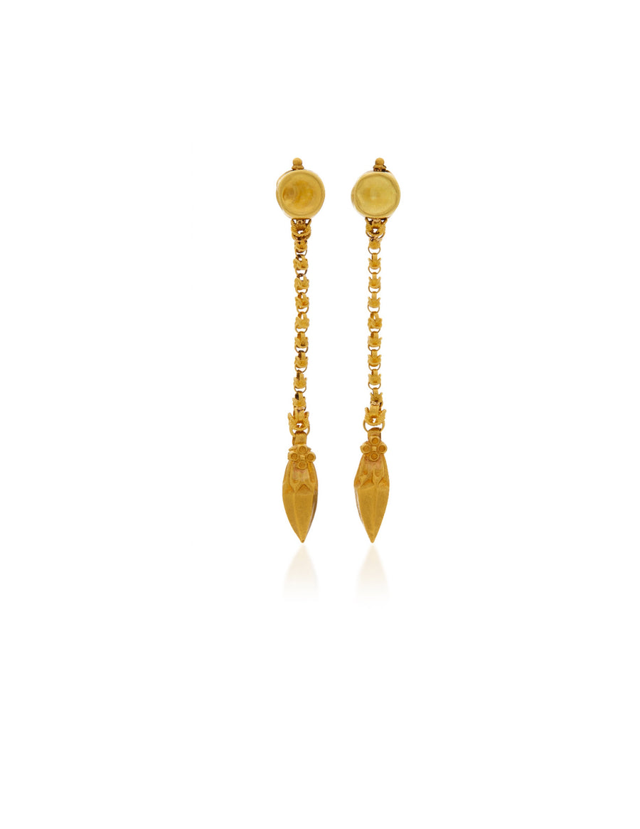 Gold Linear dangle Earrings