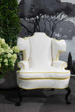 Load image into Gallery viewer, Scrolling English Wing Chair by Michael Tavano