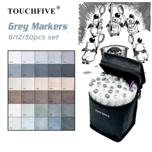 TouchFive® 6/12/30 Gray Markers Set