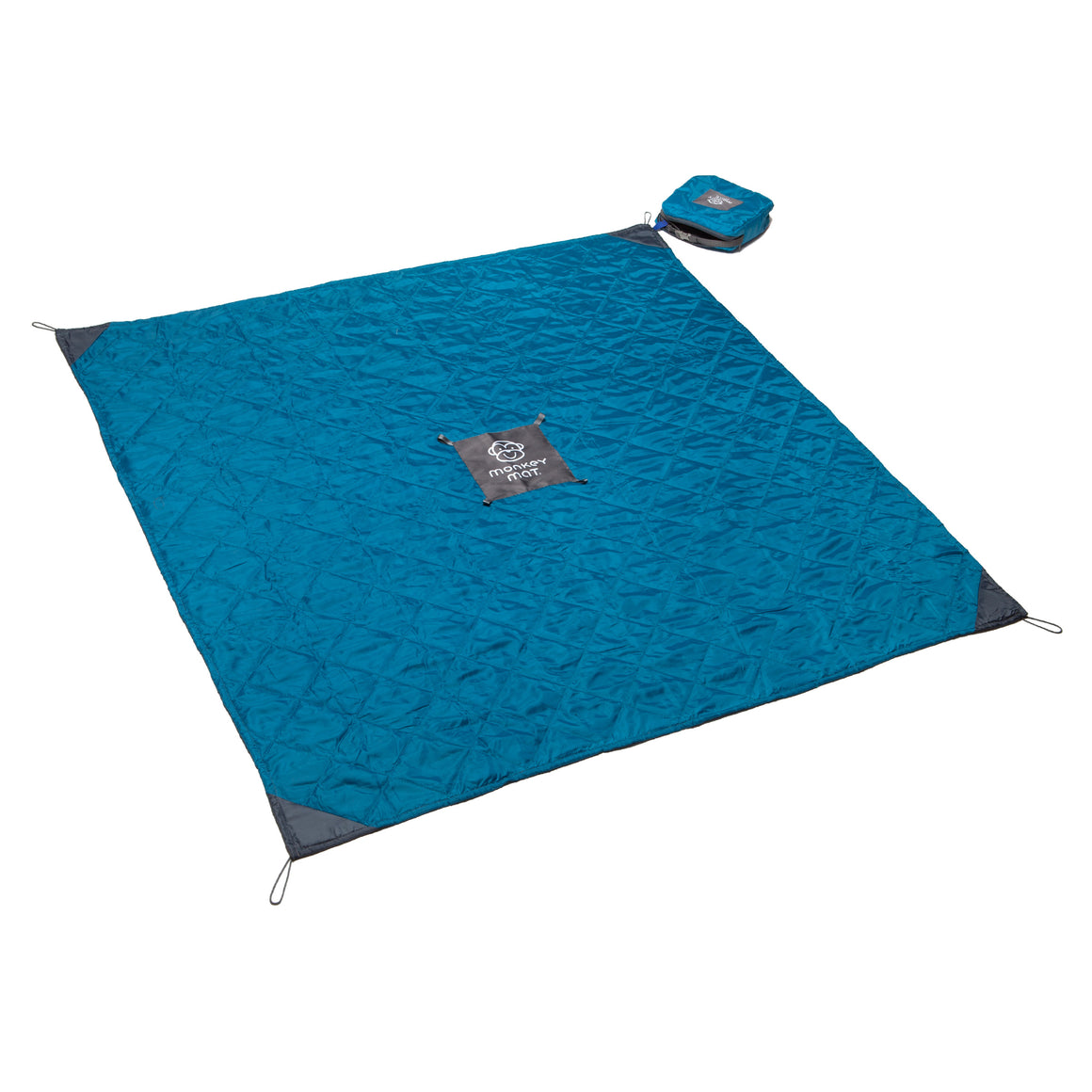 Quilted Monkey Mat® - Blue