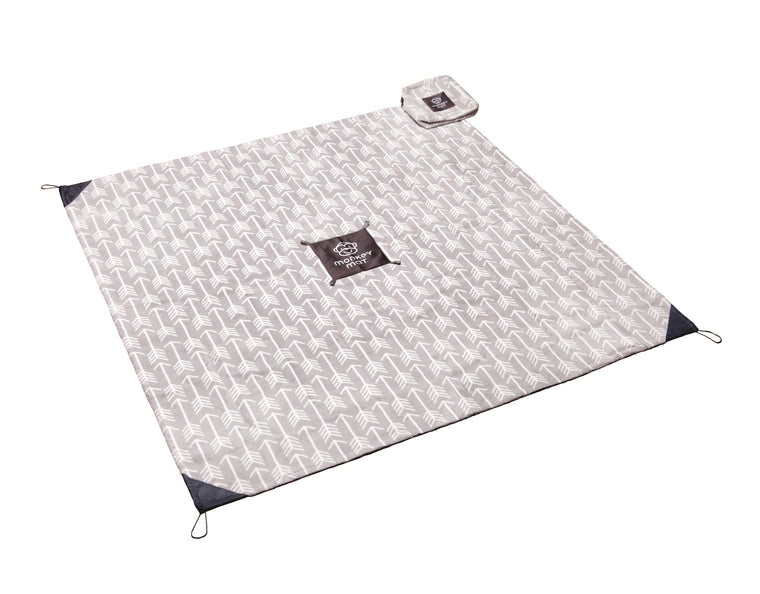 Plush Monkey Mat® - Gray Arrow Print