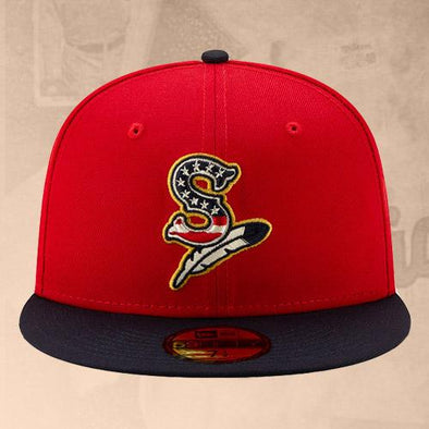 Spokane Indians Fitted 2019 July 4th Red Cap